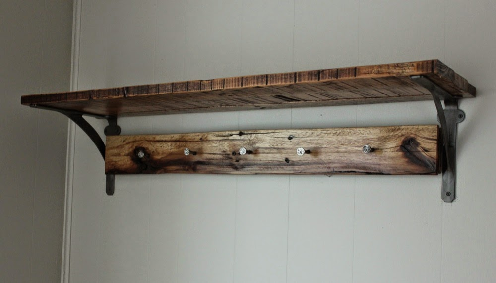 reclaimed shelf accent projects chicago beam wood residential and shelves wall