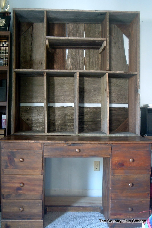 Beautiful Welllll u there was enough FREE barnwood to build one So we took inspiration from the bottom of the above pic and came up with my hutch u