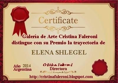 Elena Shlegel Premio