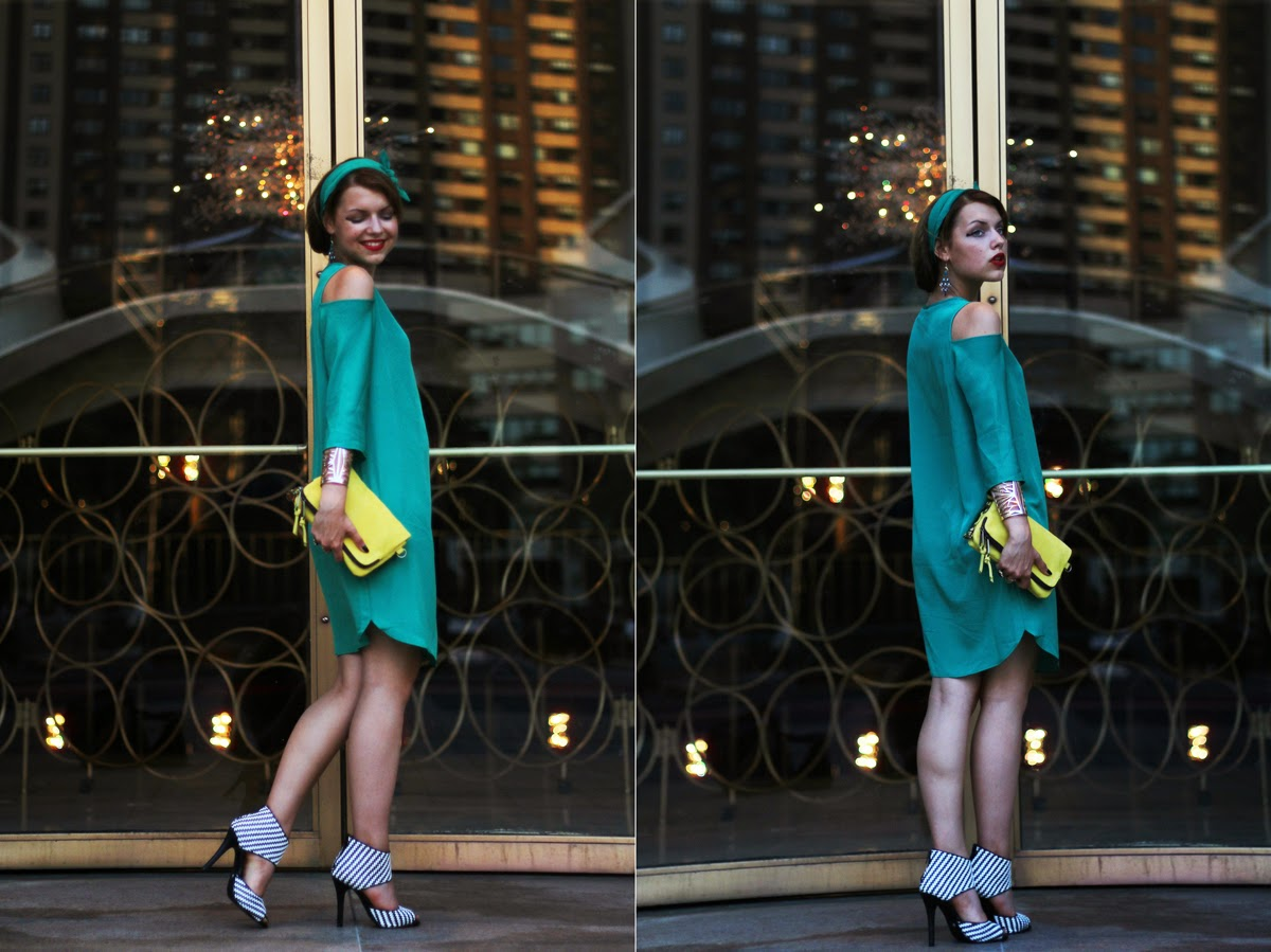 green dress style new york fashion week outfit