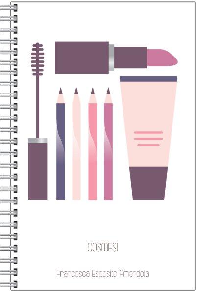 Il quaderno degli appunti di cosmetologia