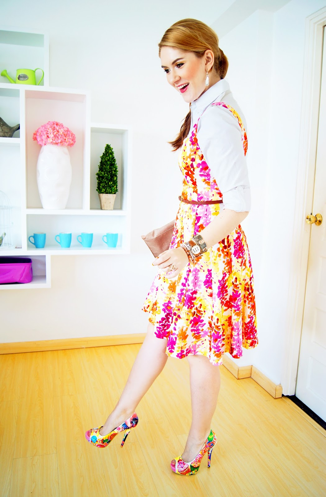 Colorful Floral Outfit for Spring