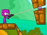 Ajude este pequeno alienígena a chegar até a esmeralda. Use sua arma de raios laser para destruir todos os obstáculos. Bom jogo!