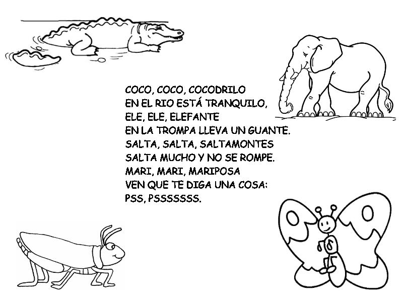 canciones sobre los animales: