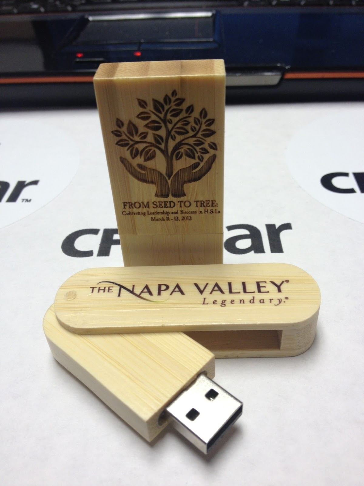 Cfgear And Bulk Flash Drives Made From Wood