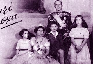 Paul, Frédérika, Sophie, Constantin et Irène de Grèce