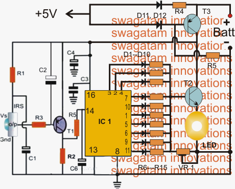 How to Make a Infrared (IR) Controlled LED Emergency Lamp Circuit