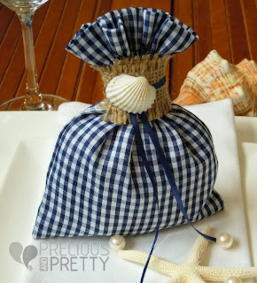 beach favors with shells made in Greece