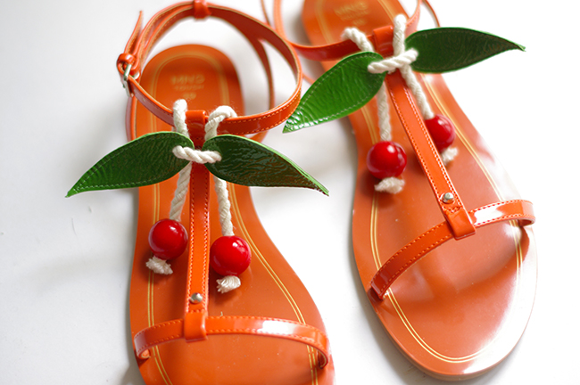 DIY Cherry Sandals by www.fashionrolla.com