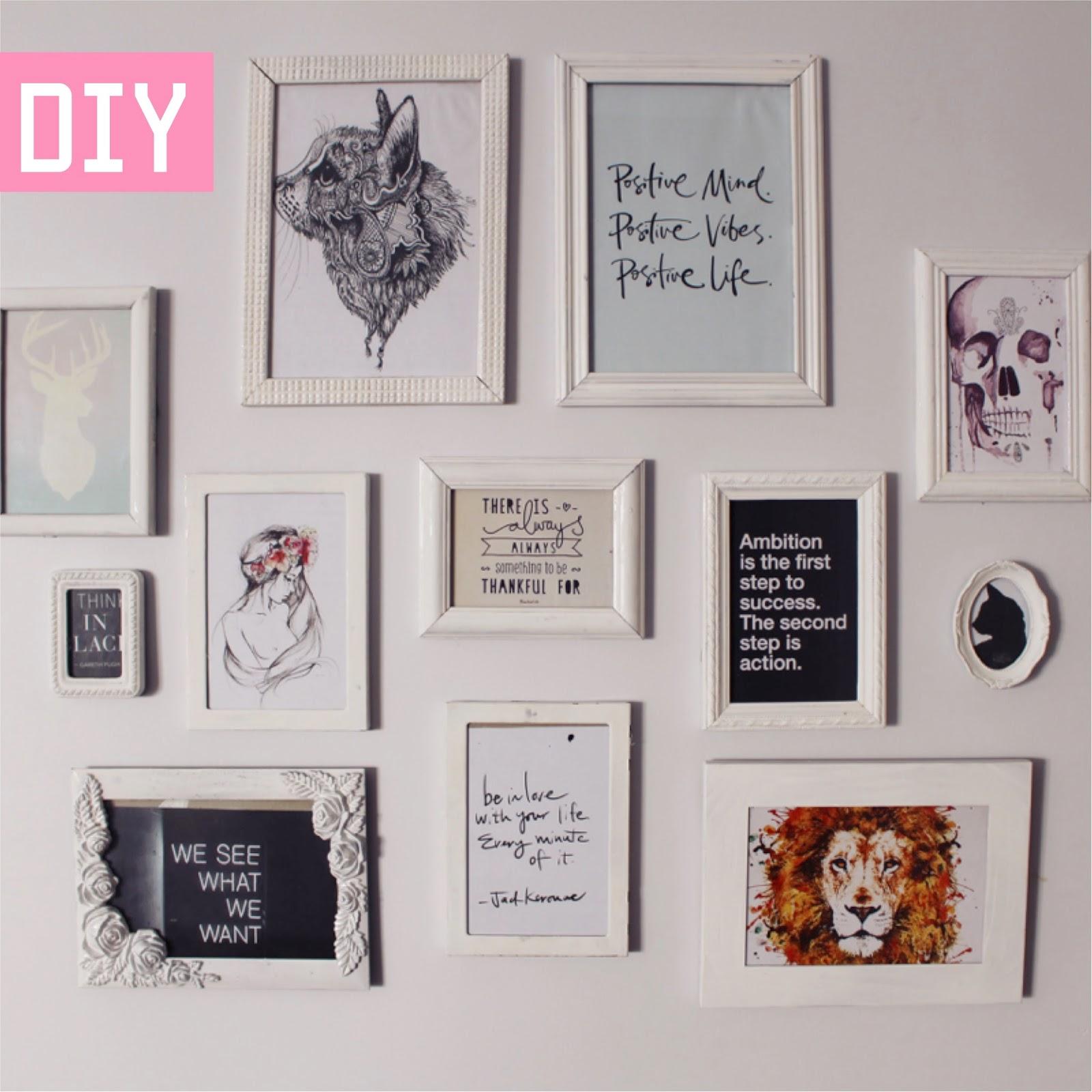 DIY: Parede com Molduras