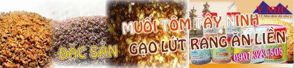 Muoi tom Tay Ninh | dac san muoi tom | gao lut rang - muoi tay ninh