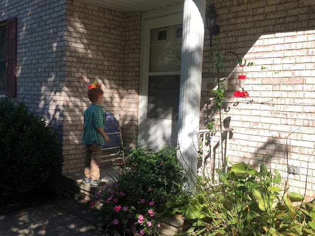 Porter Delivering Flowers