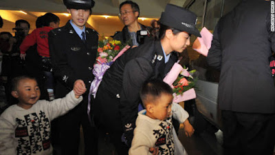 Chinese police busted two child-trafficking rings, rescuing 178 children and arresting 608 suspects in Dec. 2011.