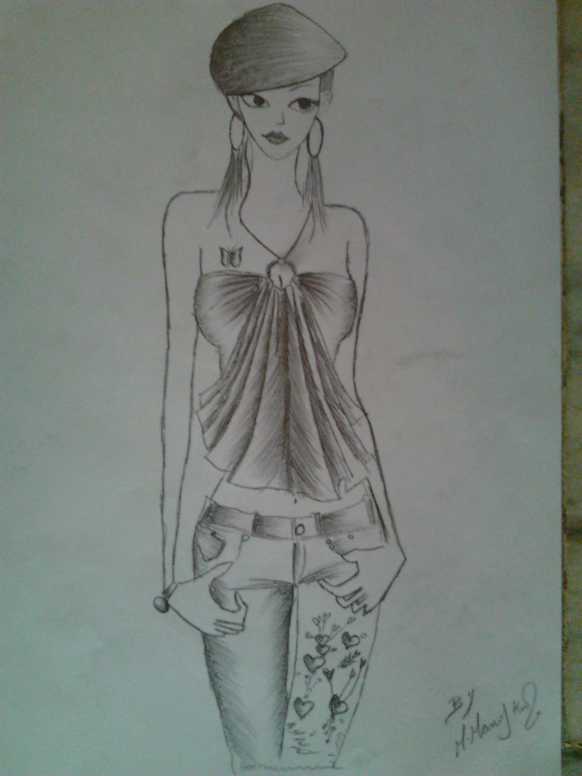 my pencil sketches my latest fashion sketches