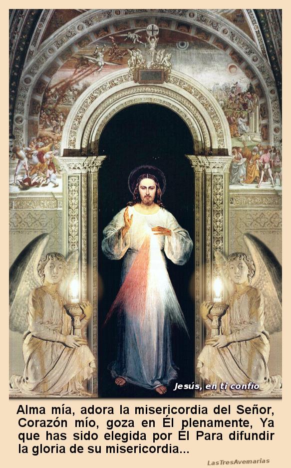 jesus misericordioso parado en una puerta