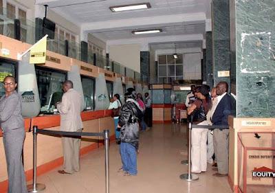 tellers at a kenyan bank