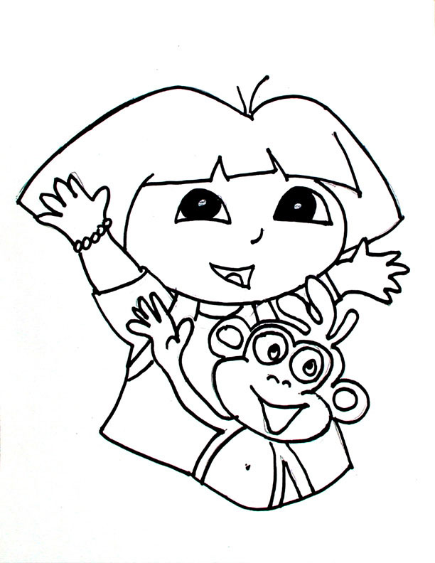 adventure dora and boots coloring pages colouring
