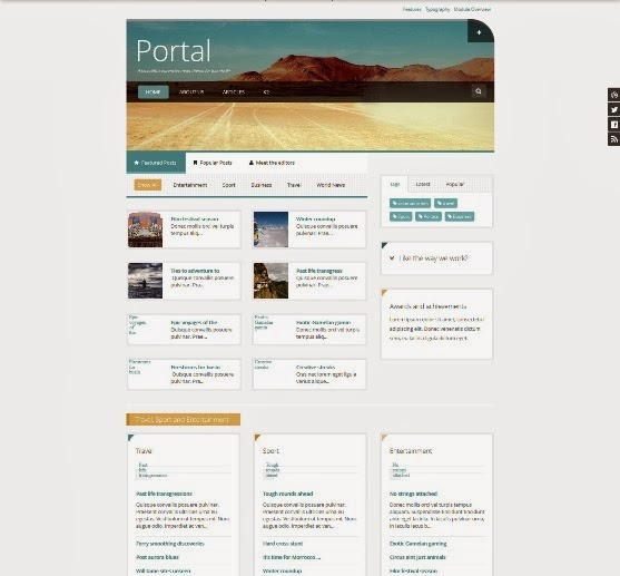Portal Magazine Theme for Joomla