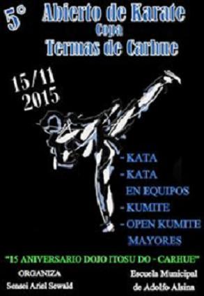 5º Abierto de Karate Copa Termas de Carhue 15/11/2015