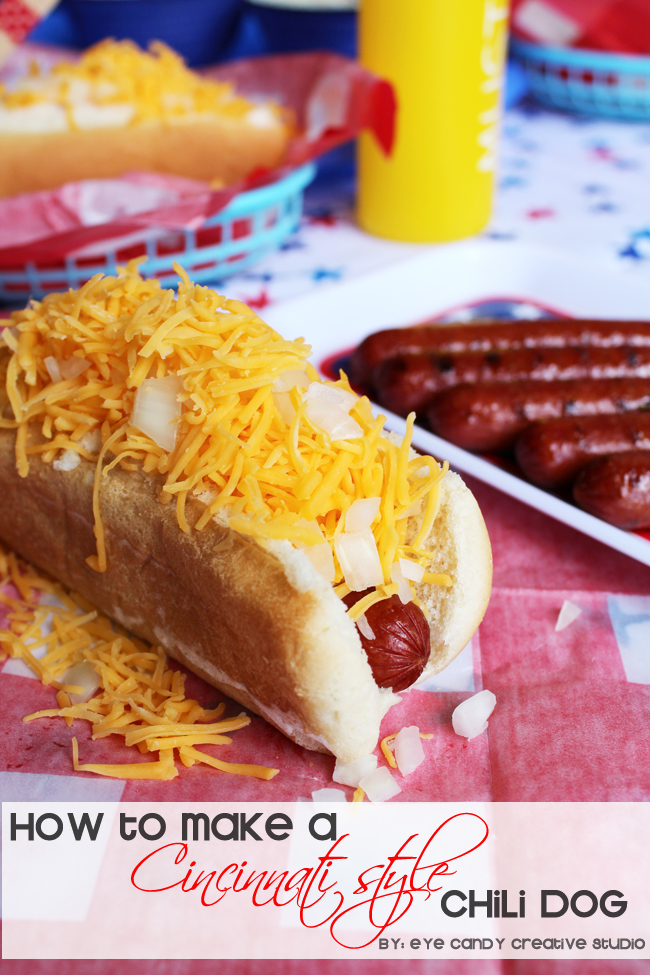 cinncinnati style chili dog, coney dog, chili hot dog recipe, skyline