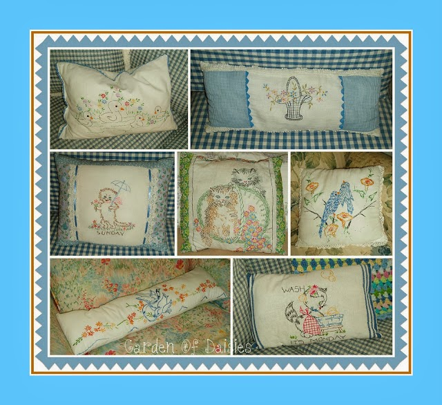 Pillows From Vintage Linens