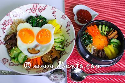 cara membuat bibimbap sederhana dan bibimbap ala restaurant korea