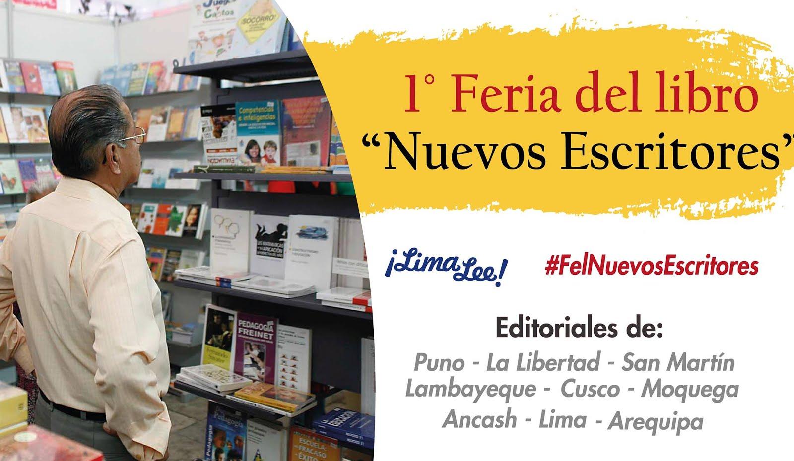 """En 1ra Feria de libro """"Nuevos Escritores"""" (8 al 14 de julio 2017)"""