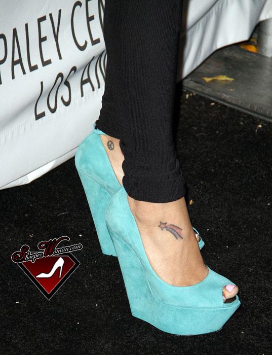 Zanotti Peep Toe Wedges Worn By Naya Rivera From Glee ($65000