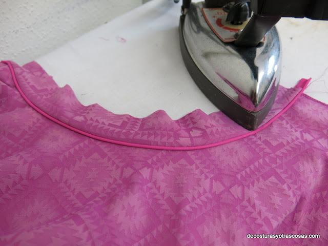como coser un ribete