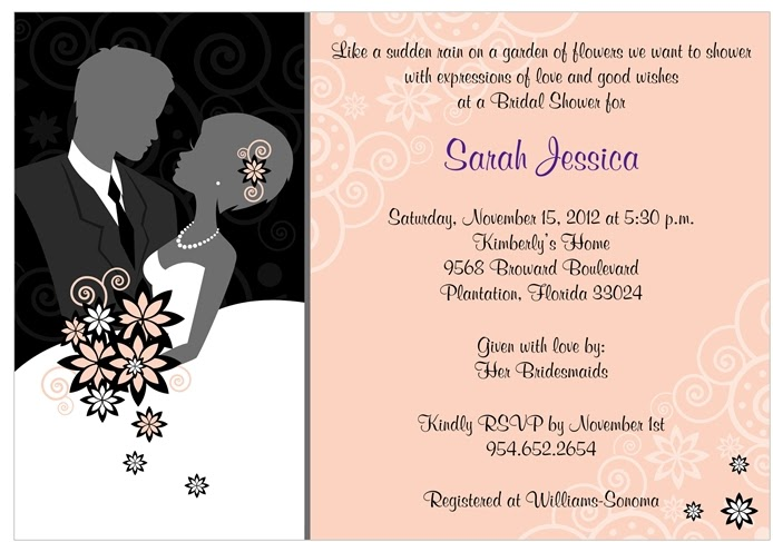 chic bridal shower invitations from storkie
