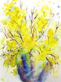 šopek rumenih cvetov │ mala sonca upanja │ čaka smrt