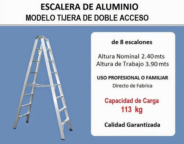 Escaleras monte castro escalera de aluminio tijera de for Escalera de aluminio de 8 metros