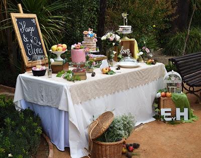 Mesa de tartas para Hugo y Elena