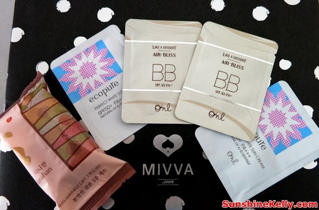 MIVVA Glow Gizmo, Mivva box, Beauty Box Review, beauty, Somang Danahan, Bon Yeon Jin Toner, Emulsion, Ecopure Perfect White Sun Cream, somang Air Bliss BB