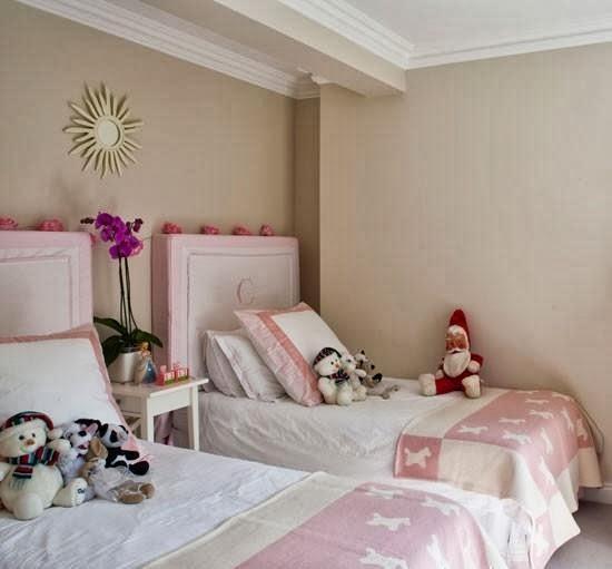 Dormitorio color rosa para dos ni as ideas para decorar for Cuarto de nina rosa palido
