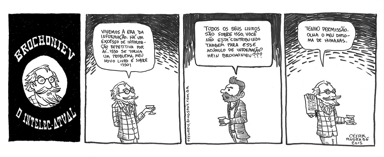 Cesar Andrade - Tirinha sobre informação