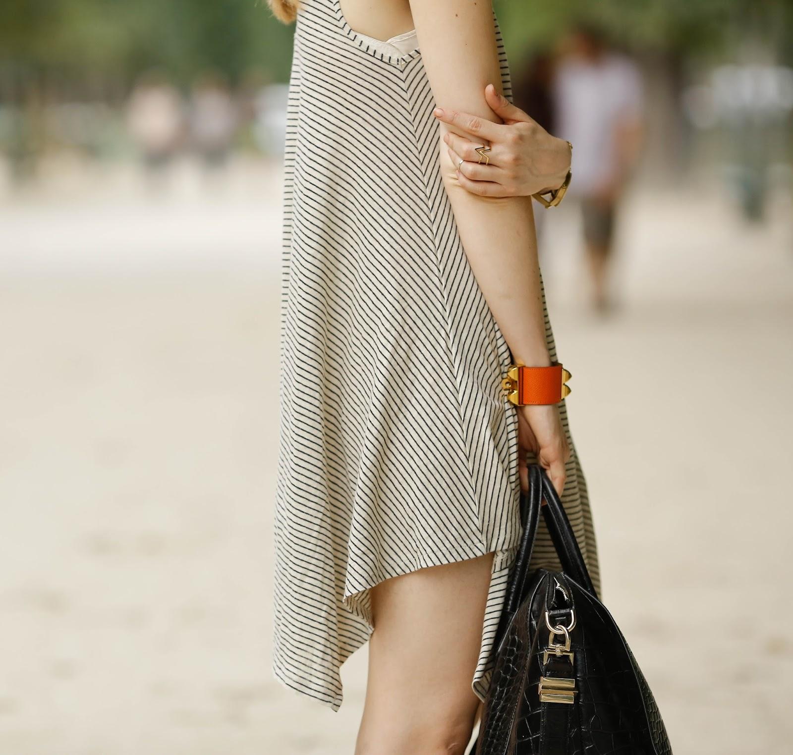streetstyle, pardon my obsession, givenchy, hermès, collier de chien, paris, summer dresses