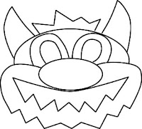 Molde de gatinho para feltro