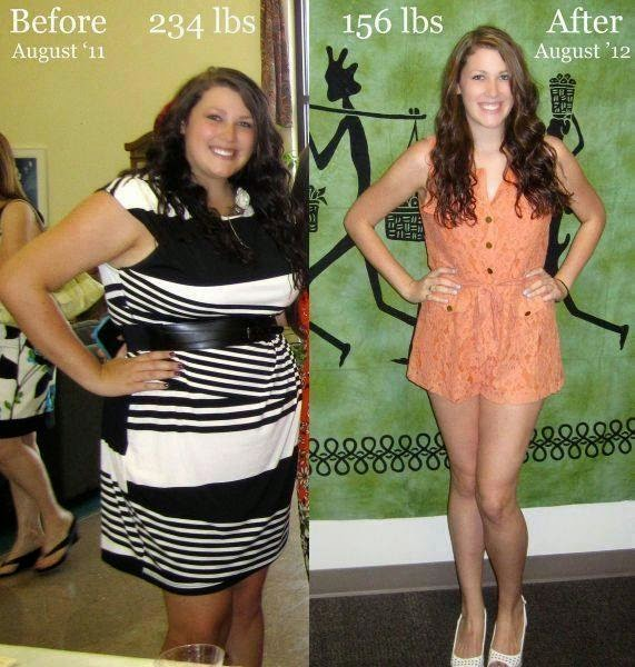 مجموعة من النساء قبل وبعد فقدان وزنهن