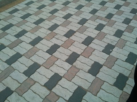 Labels Stone Path Driveway Design