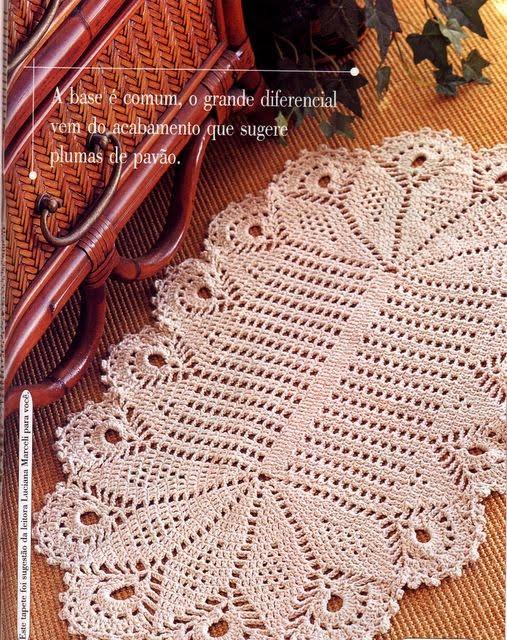 Armario Retro Cozinha ~ Artesanato e Croche Tapete de croche