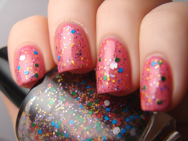 nails nailart nail art polish lacquer mani manicure Spellbound Nails Candy Coated Collection Candy Land Candyland Wet n Wild Candy-licious Sinful Colors Beautiful Girl glitter pink green yellow red blue purple holo holographic shimmer white hex indie brand Glitter Me Gumdrops inspired matte