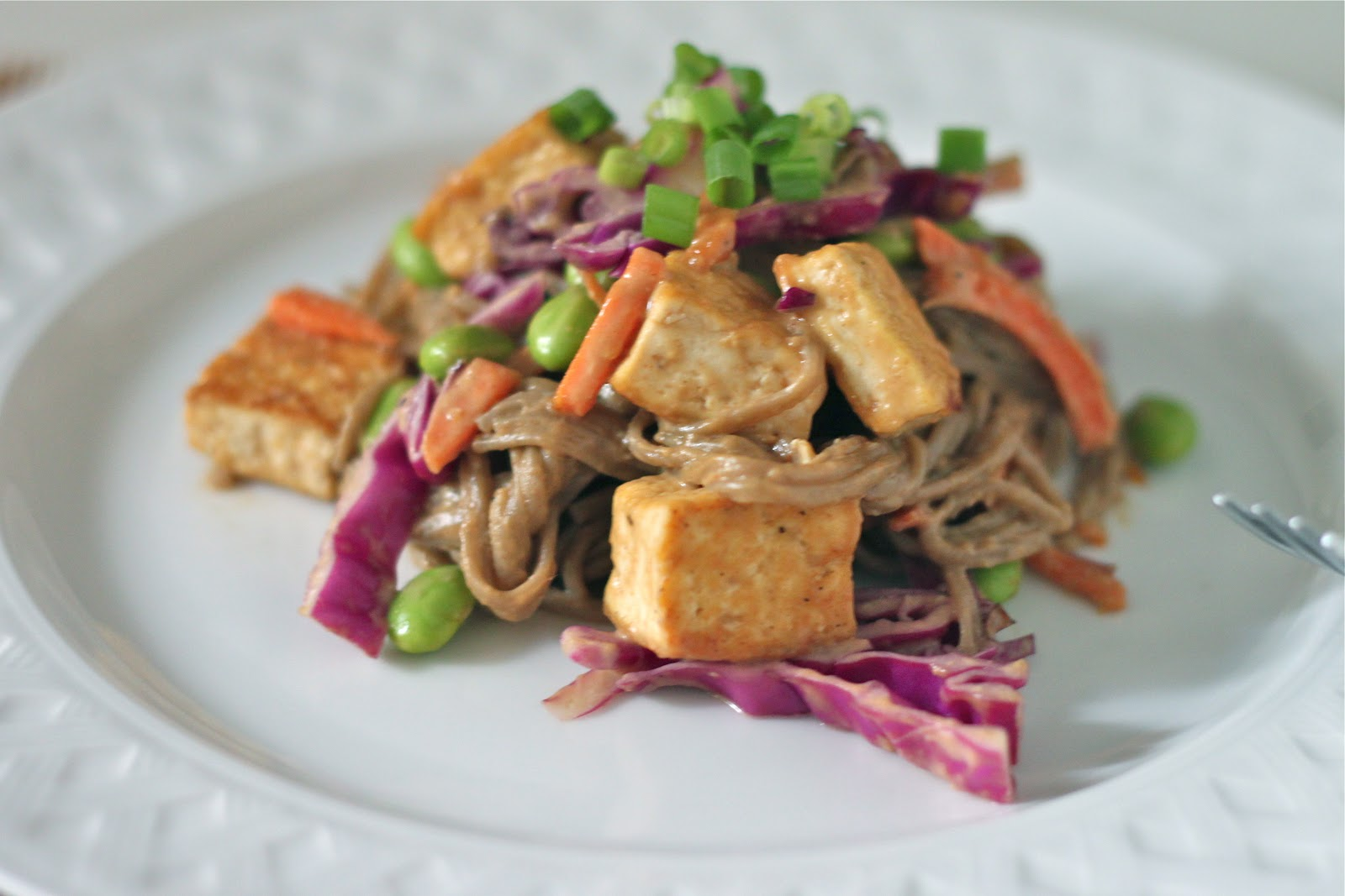 Soba Noodles and Tofu with Spicy Peanut Sauce - TheCornerKitchenBlog ...