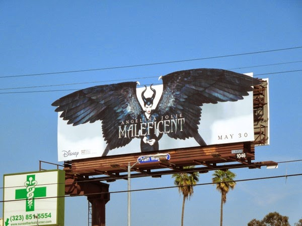 Disney Maleficent movie billboard