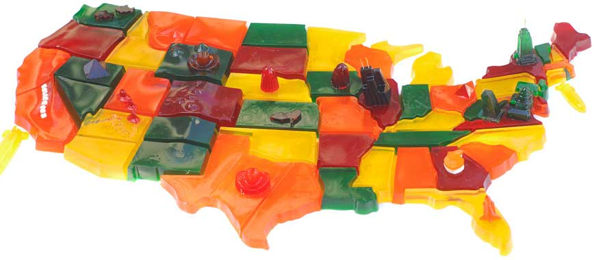 United States Shaped Cake Pan