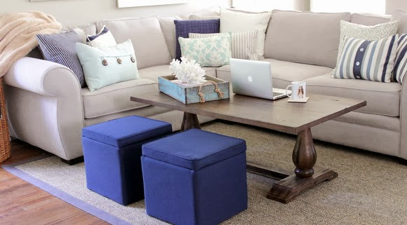 navy and blue living room