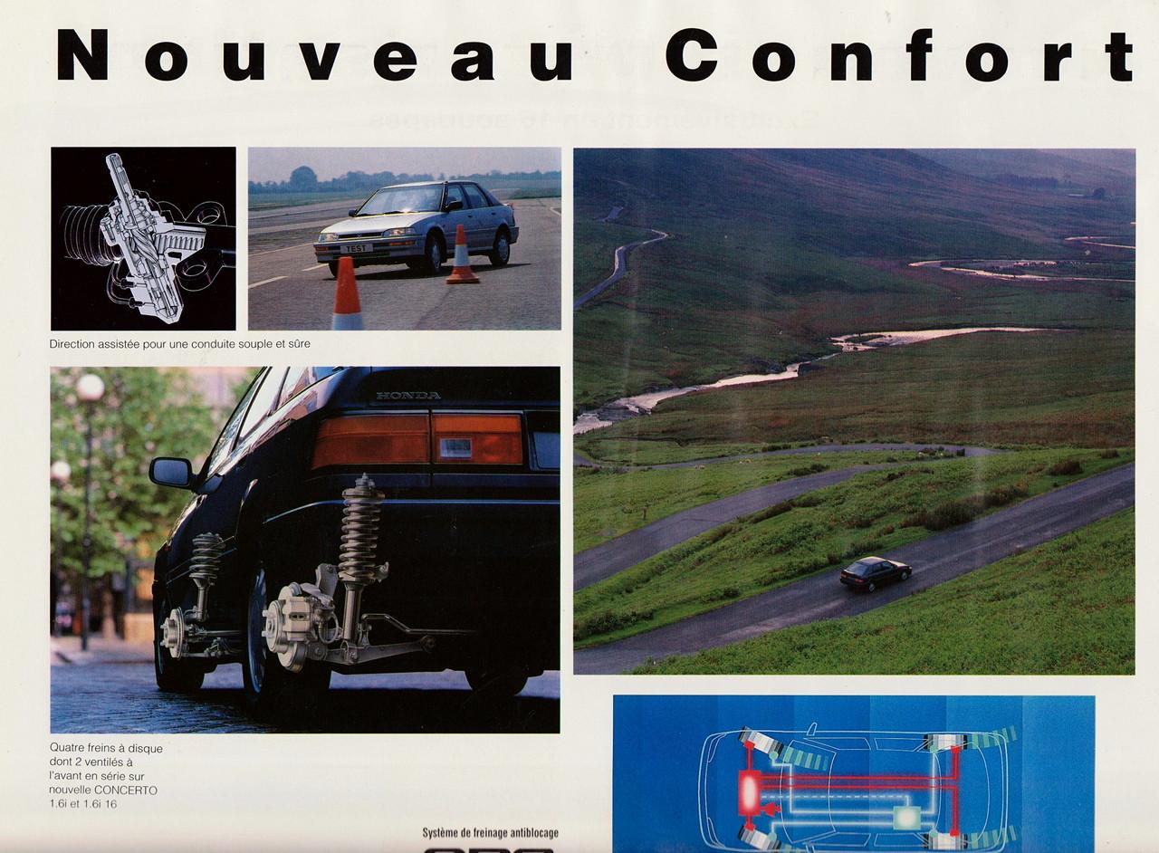 Honda Concerto, zawieszenie, japoński samochód