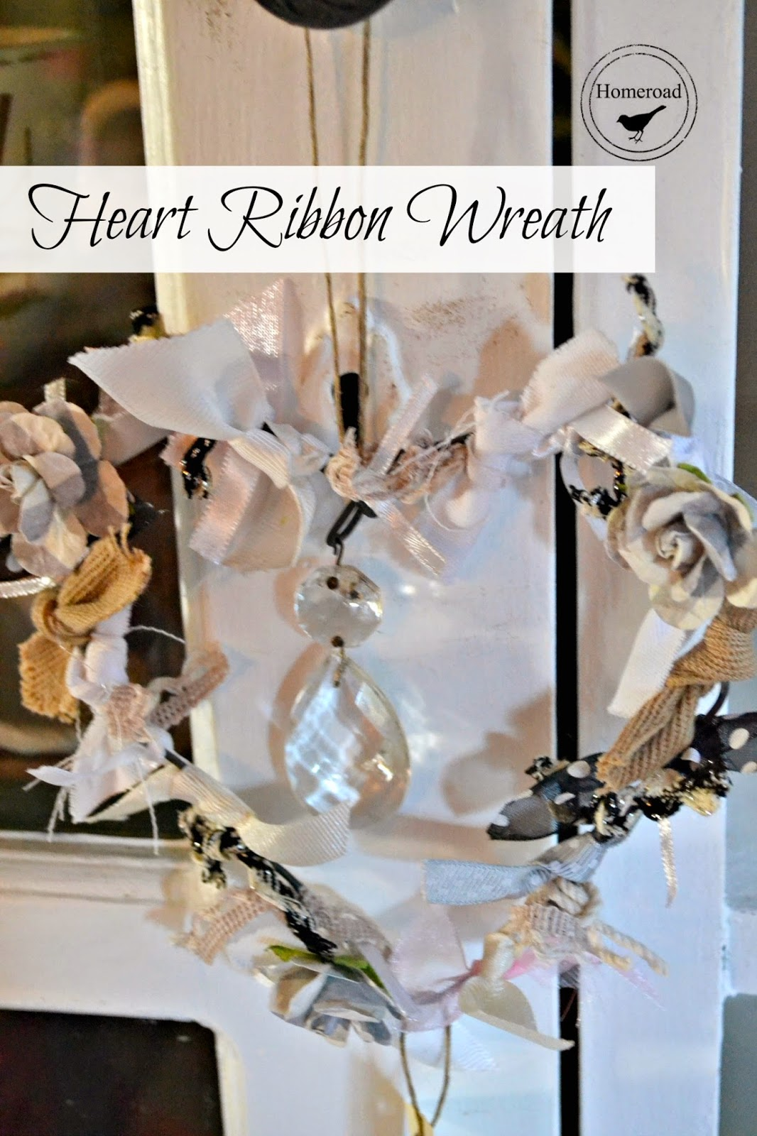 heart ribbon wreath www.homeroad.net