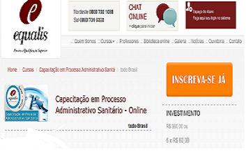 Curso de processo administrativo sanitario online