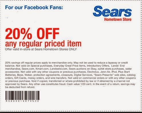 Sears outlet coupon code february 2018